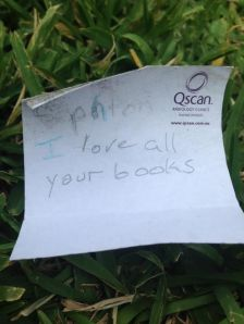I LOVE ALL YOUR BOOKS